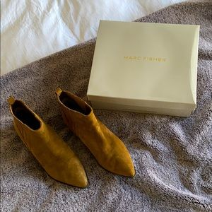 Suede point toe Marc Fisher booties